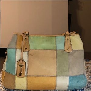 Fossil Patches Leather Handbag